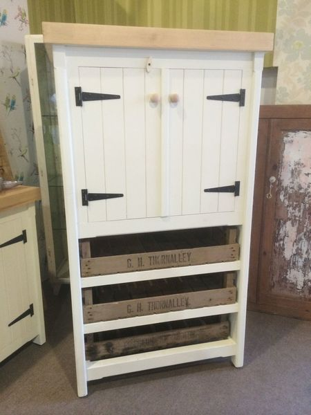 Rustic Pine Cupboard Pantry Larder Linen Storage Farmhouse Country In Any Colour