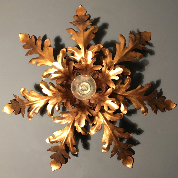 Italian Florentine Gilt Wall/Ceiling Light