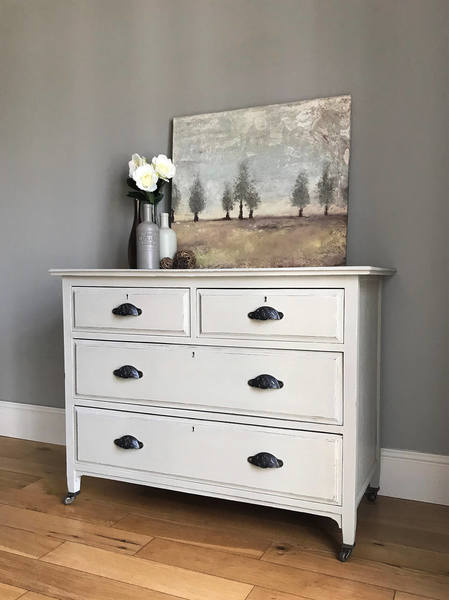 Vintage Solid Wood Chest Of Drawers