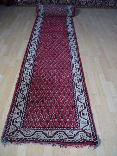 Persian Design Hall Runner Carpet Rug Hand Made Wool Oriental 13ft 2 X 2 Ft 6