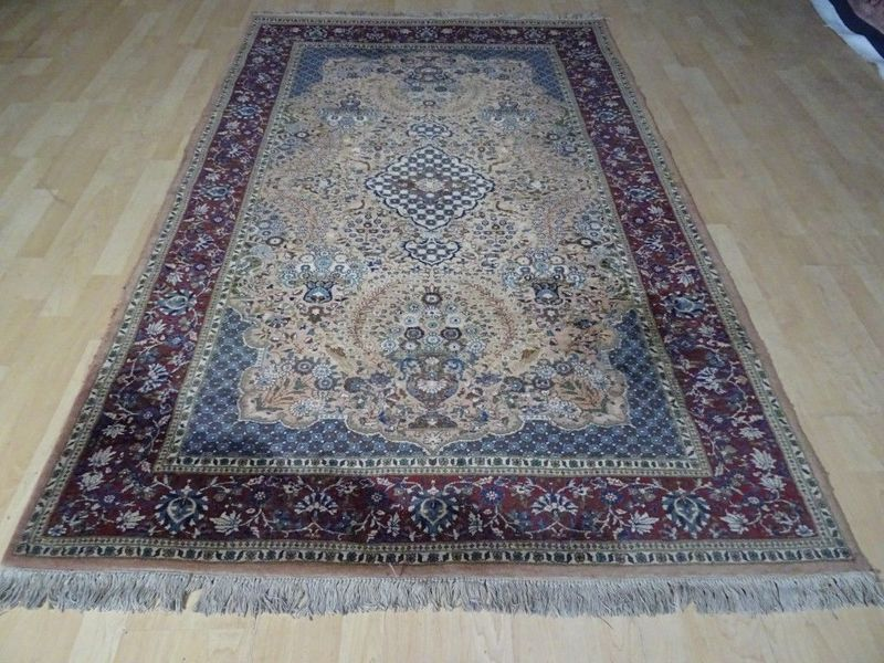"Oriental Pakistan Lahore Prayer Carpet Or Rug Hand Made  7ft 3"" X 4ft"