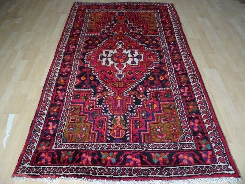 "Beautiful Handmade Hamadan Persian Carpet Or Rug  7ft 6"" X 4ft 5"