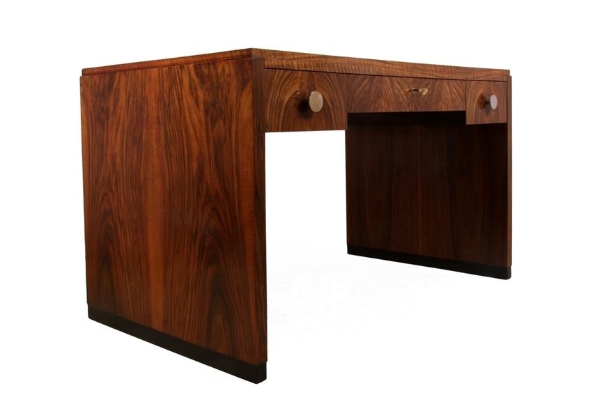 French Art Deco Desk In Walnut
