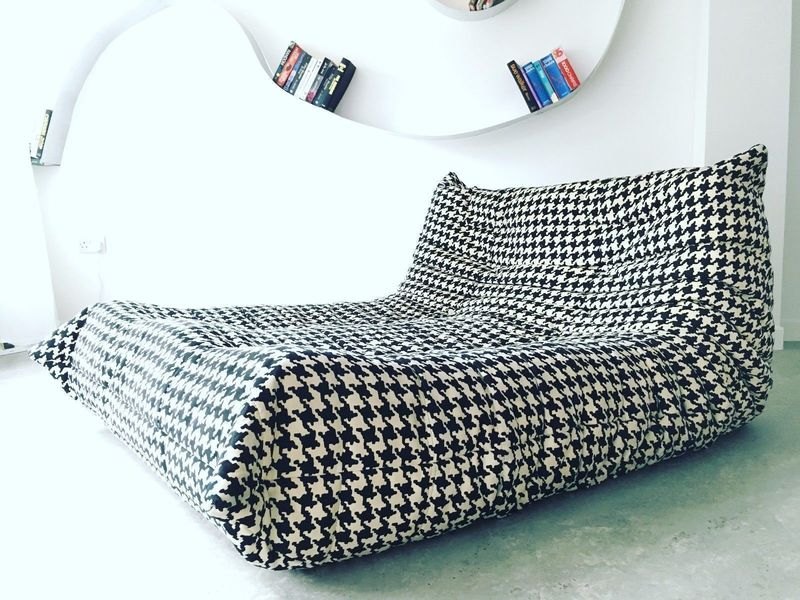 Design Vintage Modern Unique Ligne Roset Togo Sofa Chaise Longue