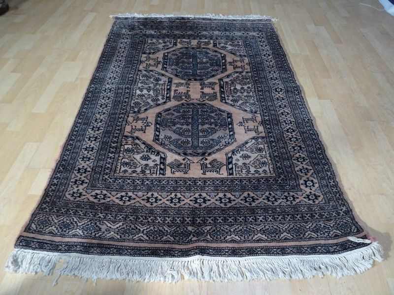 Hand Made Oriental Prayer Carpet Rug 6ft X 3ft 11