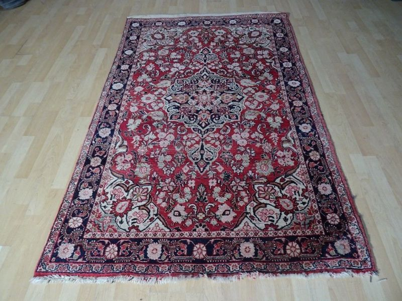 """Persian Tabriz Carpet Or Rug Hand Made  6ft 9"""" X 4ft 3"""