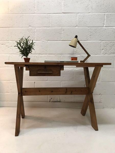 Bauhaus Inspired Mid Century Wooden Desk