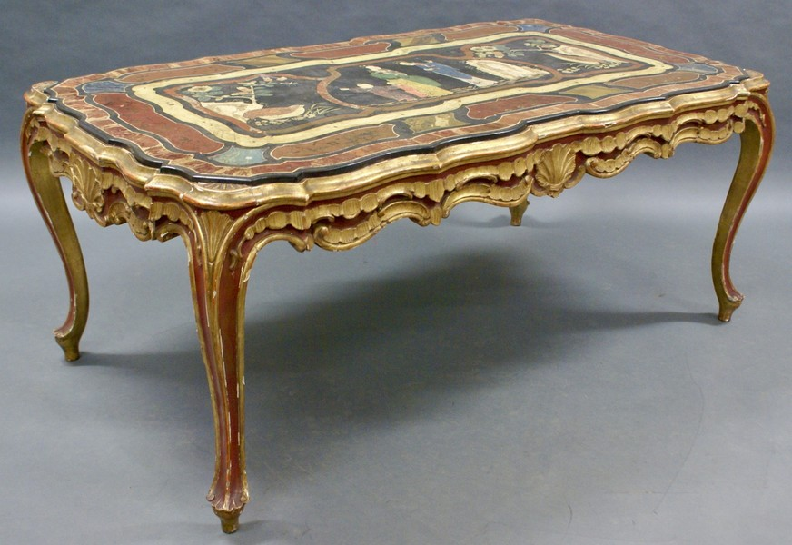 A Superb 18 Th Century Italian Scagliola Coffee Table