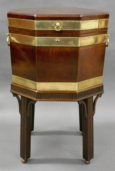 A George Iii Mahogany Wine Cooler/Cellaret