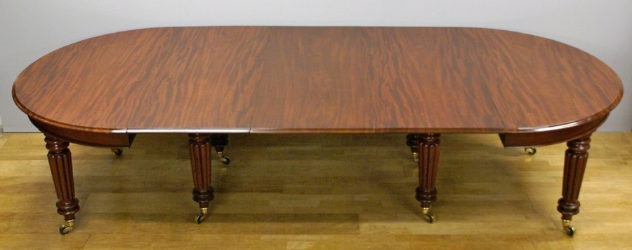 A Late Regency Mahogany Extending Dining Table