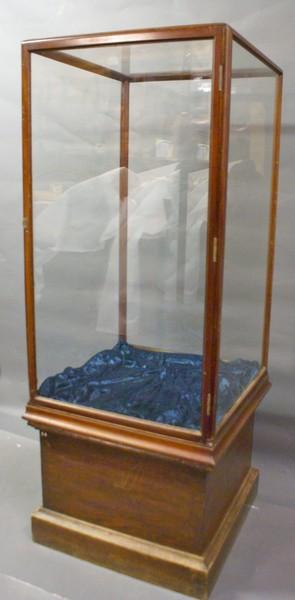A Late 19 Th Century Mahogany Shop Cabinet
