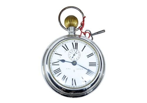 Early 20th Century Rsm German Clock Oversized Pocket Watch By D.R.G.M
