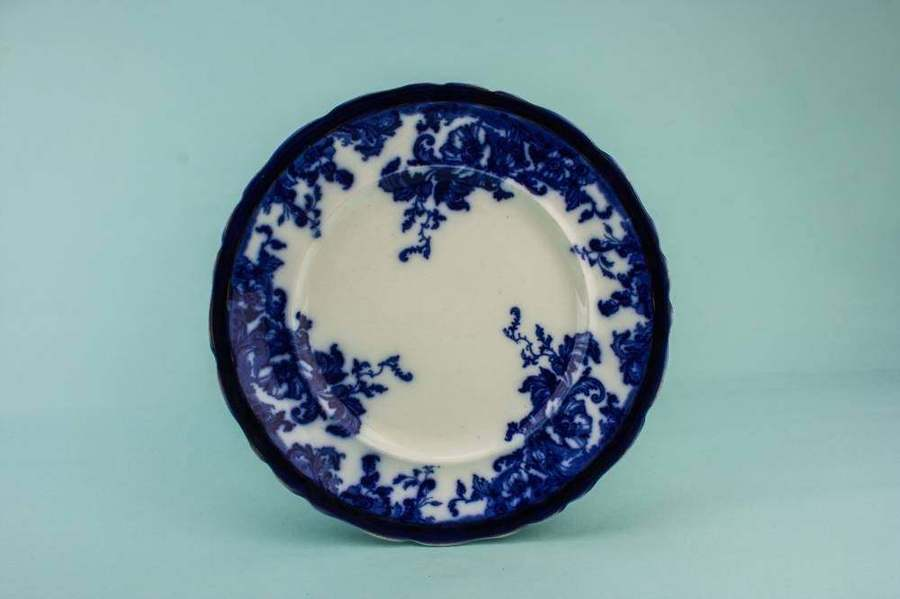 Blue And White Pottery Serving Dish Montrose Wedgwood Co Food Dinner Art Nouveau Large Circa 1900 English Gift