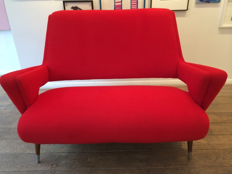 Italian Red Cocktail Sofa