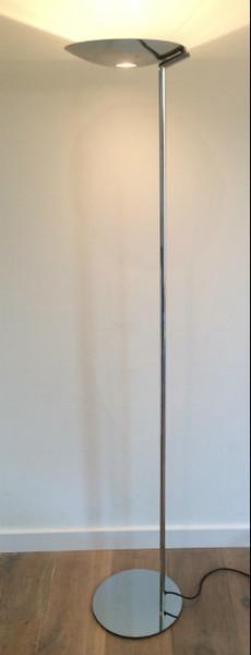 Design Chromed Floor Lamp. Circa 1970 80