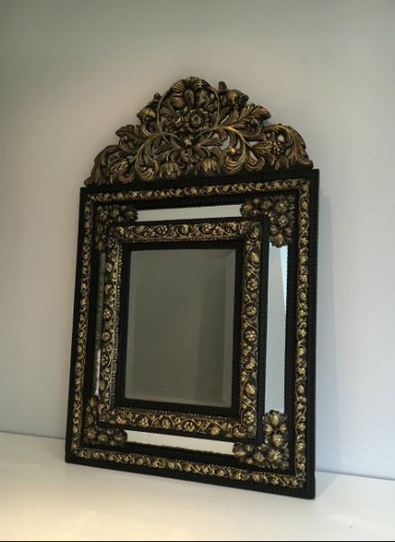 Embossed Copper Mirror Glazing Beads. Circa 1880