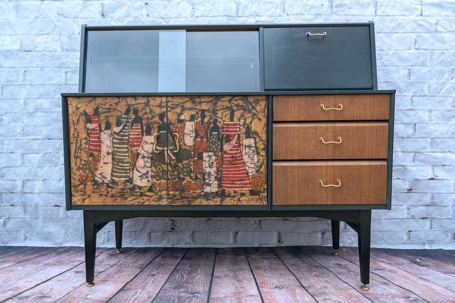 Drinks Cabinet Retro Sideboard Vintage
