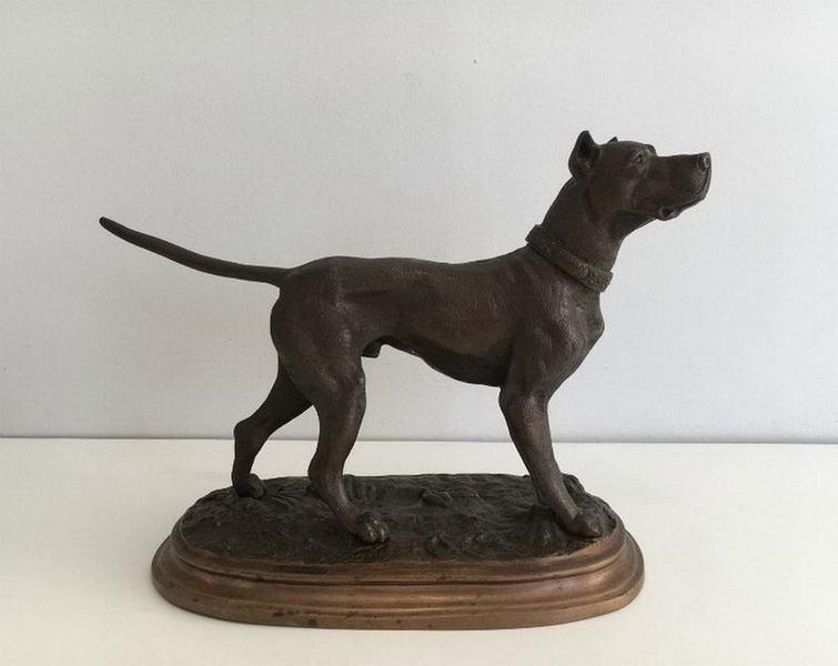 Henri Payen.(1894 1933). German Mastiff. Signed Payen à Lille On The Necklace. Circa 1920