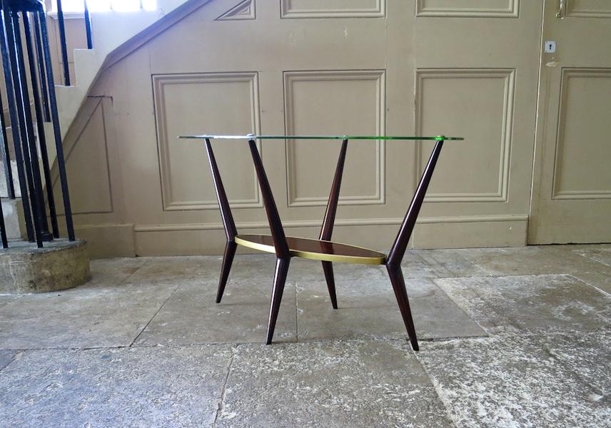 Glass Coffee / Side Table By An Italian Cabinetmaker photo 1