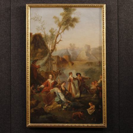 Antique French Painting Oil