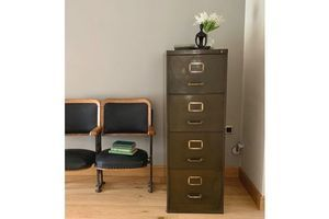 Thumb mid century 4 drawer steel filing cabinet by art metal 0