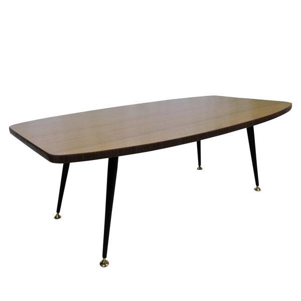 Laminated Teak Effect Coffee Table