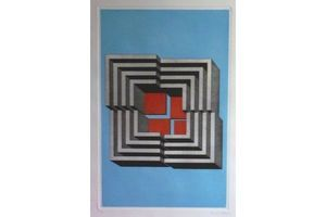 Thumb scomposition aquatint etching by giovanni stella 1970s 0