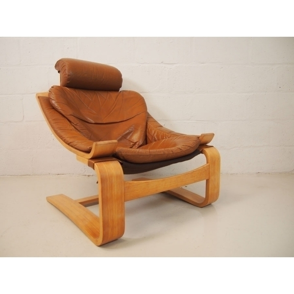 Ake Fribytter For Nelo Mobler Kroken Chair In Tan Leather photo 1