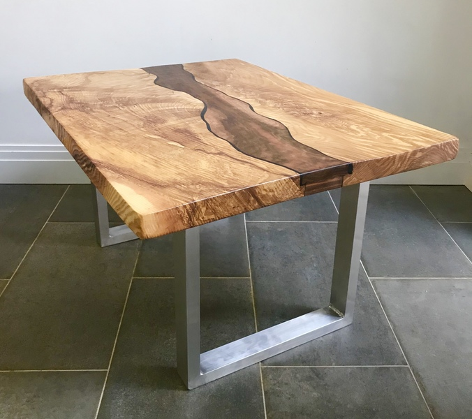 Ash And Walnut River Table