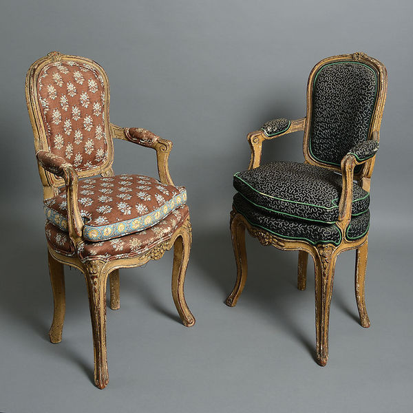 A Pair Of 18th Century Louis Xv Period Child's Chairs