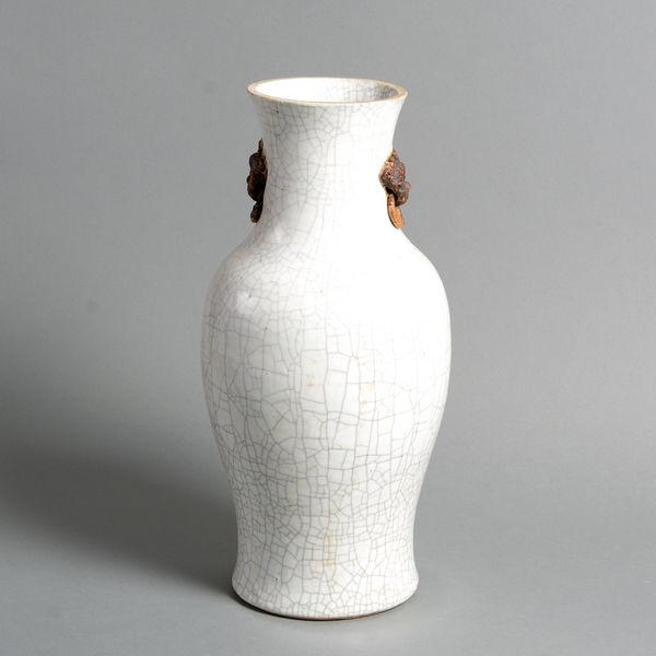 A 19th Century Crackleware Vase