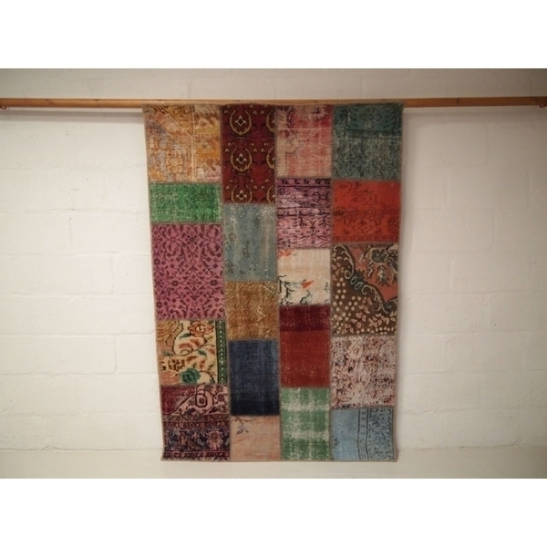 Vintage Patchwork Over Dyed Rug