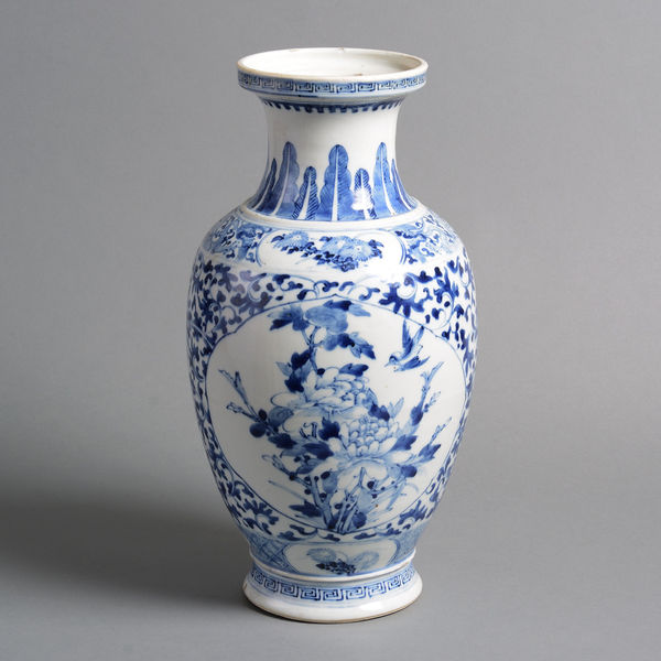 A 19th Century Qing Dynasty Blue And White Porcelain Vase