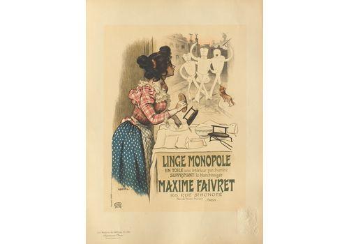 Roedel (1859 1900)   Lithograph Poster   Linen Monopole Maxime Faivret