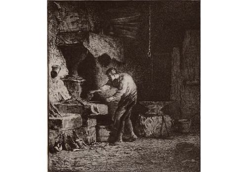 Jacques Charles (1879 1959)   Engraving   La Maréchalerie   Barbizon School