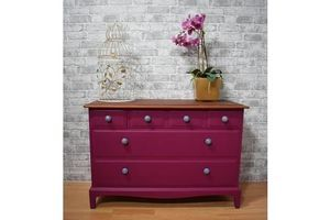 Thumb vintage plum stag minstrel chest of 5 drawers sideboard unknown 0