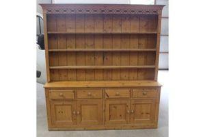 Thumb 1920 s large antique pine original dresser with rack 1920s 0