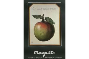 Thumb magritte rene offset poster galerie isy brachot ceci n n est pas une pomme unknown 0