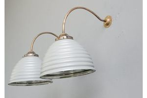 Thumb wall mounted mercury glass lights circa 1930 s 1930s 0
