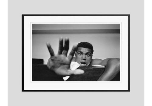 ' Give Me Five ' Muhammad Ali Oversize Silver Gelatin Print Framed In Black