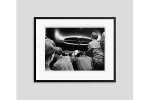 Thumb mercedes inspection 1954 oversize silver gelatin print framed in black 0