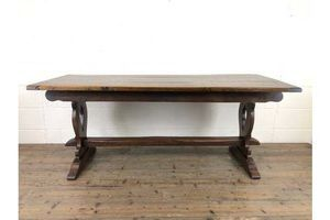 Thumb early 20th century antique oak refectory table 1920s 0