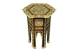 Thumb a fine syrian bone mother of pearl inlaid side table 1800s unknown 0
