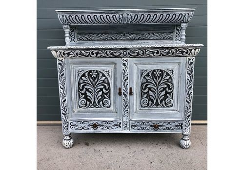 Stunning Antique Carved Oak Sideboard / Jacobean Style Court Cupboard