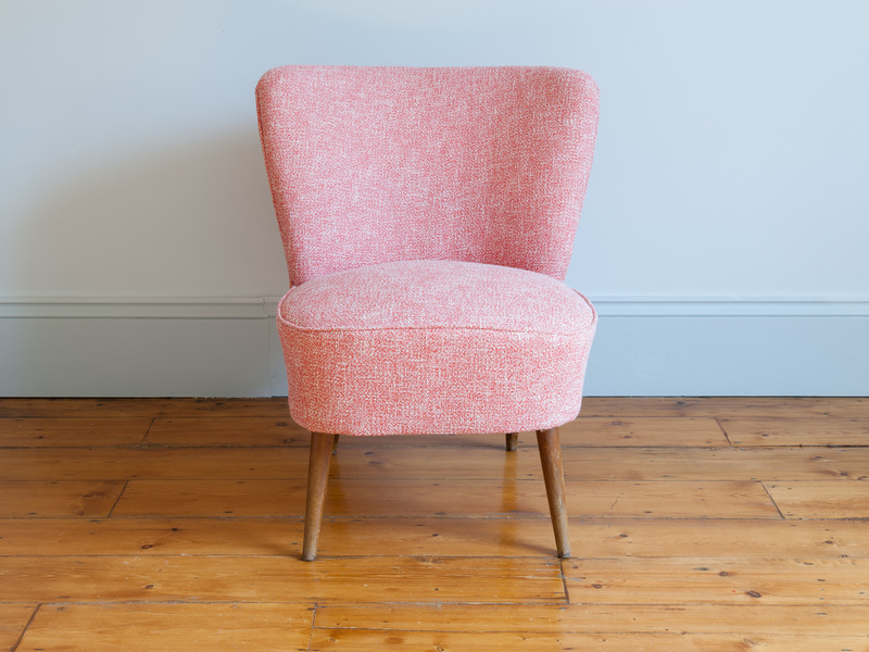 Small Pink French Cocktail Chair