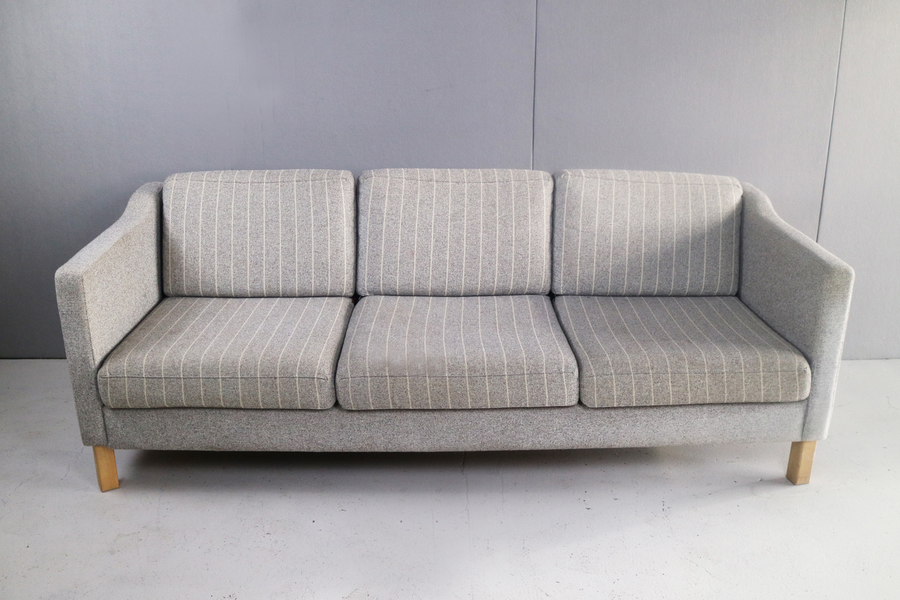 1970's Danish Mid Century 3 Seater Sofa With Original Upholstery