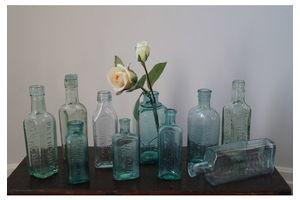 Thumb selection of vintage glass bottles e155e252 6a3e 4bf9 8dae af70beee3be0 0