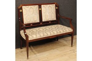 Thumb french art deco sofa in mahogany wood unknown 0