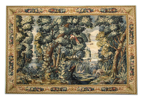 Handmade Vintage Chinese Tapestry, Pictorial Needlepoint Wall Hanging 210 X 310 Cm