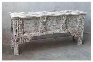 Thumb beautiful vintage indian whitewashed console table unknown 0